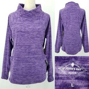 St Johns Bay Active Fleece Space Dye w/Pockets! L